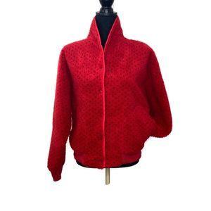 Vtg L.L. Bean 80's Fleece Snap Front Jacket Medium